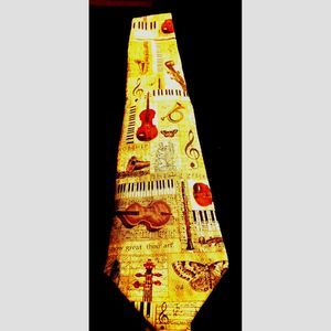 AWESOME~MUSICAL~SILK MENS TIE~BY EAGLE
